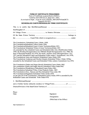 Format of SC/ST Certificate pdf - Imphal West District of Manipur - imphalwest nic