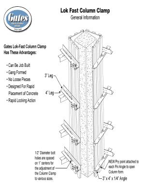 Fillable Online Lok Fast Column Clamp - Gates Concrete Forms Fax ...