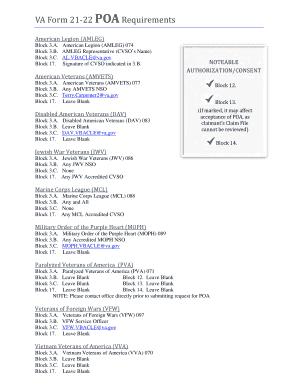 Fillable Online Dvs Ohio Va Form 21 22 Poa Requirements Dvs Ohio