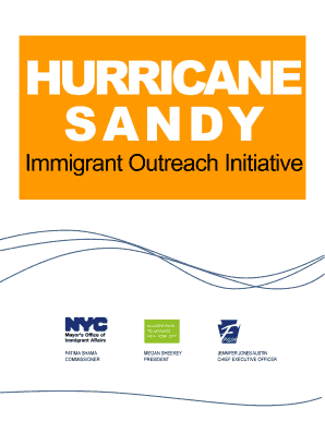 1 HURRICANE SANDY IMMIGRANT OUTREACH INITIATIVE - nyc