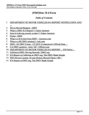 H6 Form - Fill Online, Printable, Fillable, Blank | PDFfiller
