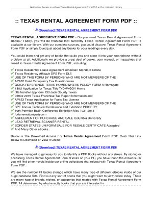 texas rental agreement form nede whyanything co