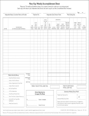 tax sheet weekly