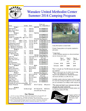 Wanakee 2014 Summer Camp Brochure - Wanakee United ... - wanakee