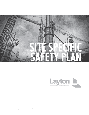 SITE SPECIFIC SAFETY PLAN - Layton Construction
