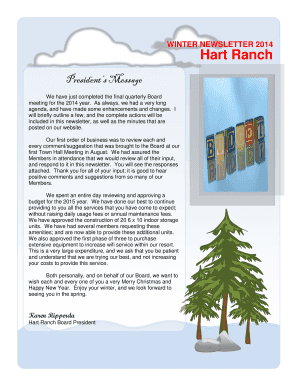 Family holiday newsletter - Hart Ranch Camping Resort