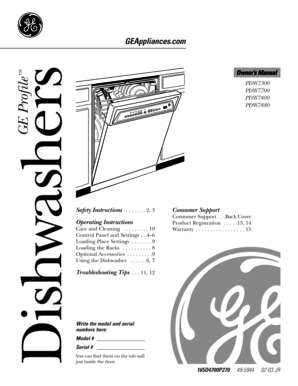 ge monogram dishwasher manual pdf