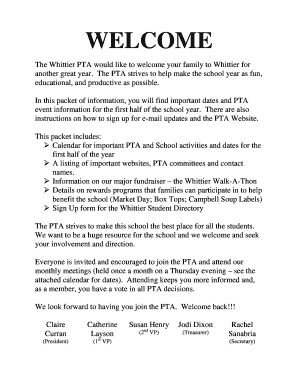 corporate welcome letter