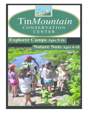 View our 2015 Summer Camp Brochure here. - Tin Mountain ... - tinmountain
