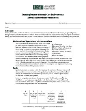 An Organizational Self Assessment