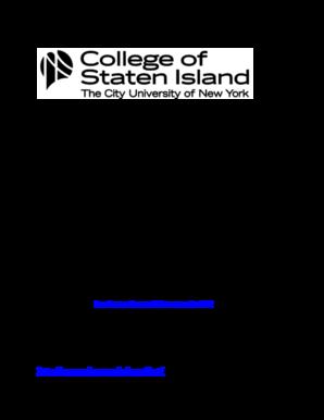College Of Staten Island Summer Course
