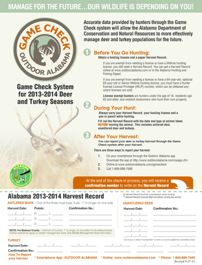 Game Check - Alabama Department of Conservation and Natural ...