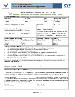 air force medical waiver - Edit, Fill Out, Print & Download Online