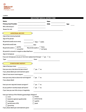 Endocrinology Diabetes And Metabolism New Patient Questionaire