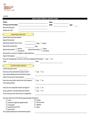 New Patient Medical Questionnaire