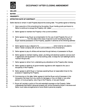 amending a contract after signing - Editable, Fillable