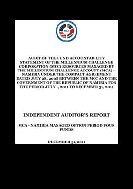 Internal audit report format pwc templates fillable printable mca namibia audit report december 2011 millennium challenge mcanamibia altavistaventures Image collections