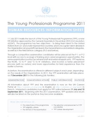 un ypp program cover letter
