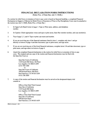 Financial Declaration Form | Fillable Online Financial Declaration Form Instructions The State