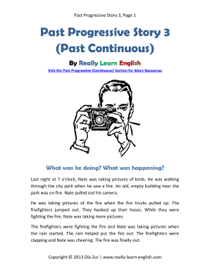 simple past tense short story pdf