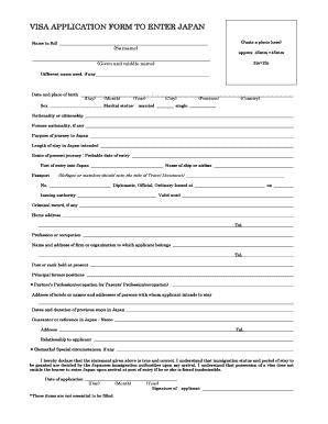 Fillable Online Japan Visahq Japan Tourist Visa Application Form Japan Visa Japan Visahq Fax Email Print Pdffiller