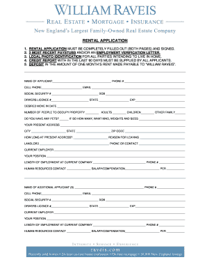 Tenant Rental Application. Rental Forms