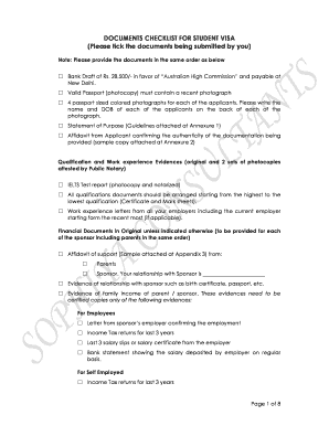 Printable sample affidavit of support for australian student visa sample affidavit of support for australian student visa documents checklist for student visa altavistaventures Choice Image