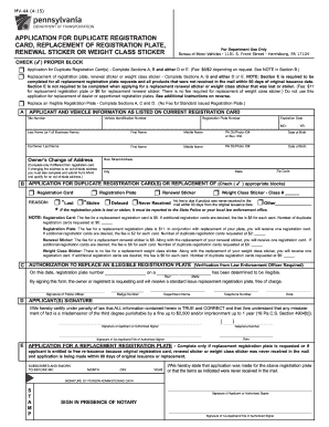 image about Printable Mv-1 Form, Pennsylvania named 2015-2019 Variety PA MV-44 Fill On the net, Printable, Fillable