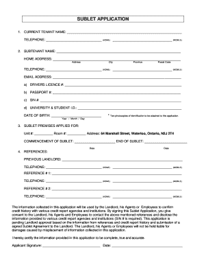 Sublet agreement ontario edit fill out download printable sublet application waterloo student residences platinumwayz