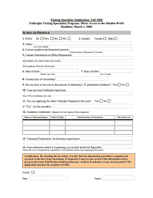 Affidavit for address proof in word format fill print download visiting specialist application fall 2006 fulbright visiting thecheapjerseys Choice Image