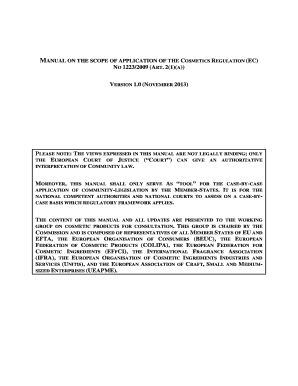 MANUAL ON THE SCOPE OF APPLICATION OF THE COSMETICS DIRECTIVE 76/768/EEC (ART - ec europa