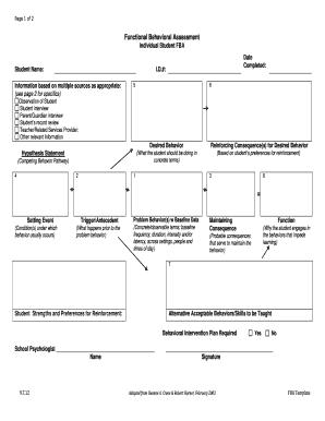 Fillable online greenburgheleven functional behavior assessment fill online maxwellsz