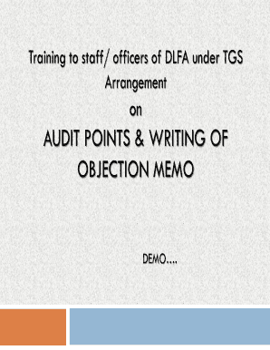 AUDIT POINTS & WRITING OF OBJECTION MEMO - NIC - as3 ori nic