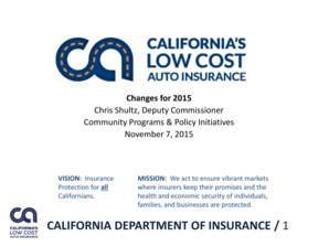Low Cost Auto Insurance >> Fillable Online California Low Cost Auto Insurance Program