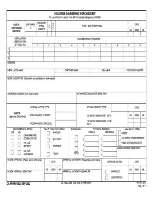 Da 4283 - Fill Online, Printable, Fillable, Blank | PDFfiller