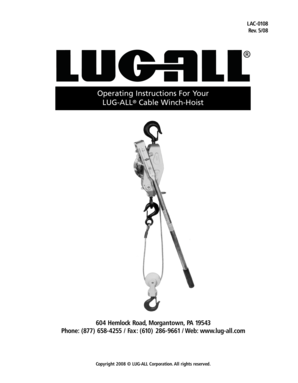 LUGALL Cable WinchHoist