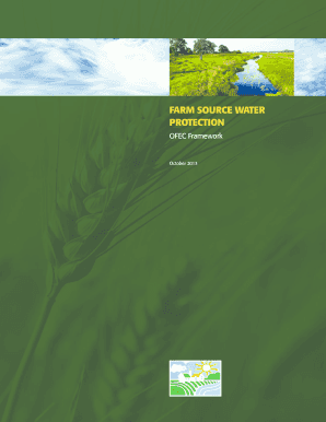 Farm source water protection - Ontario Federation of Agriculture