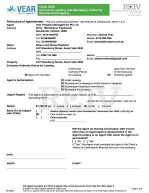 reiv exclusive sale authority pdf