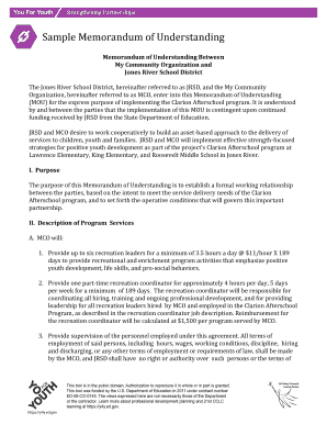 24 Printable Memorandum Of Understanding Sample Forms And Templates