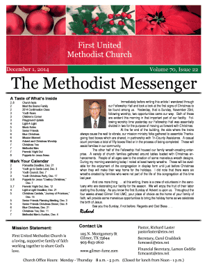 December 1 Newsletter - First United Methodist Church of Gilmer!
