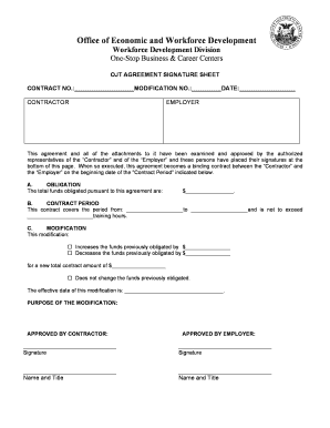 fillable ojt agreement letter sample edit print download form