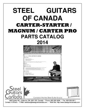 carter parts steel guitars of canada