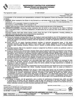 17 Printable Independent Contractor Agreement California