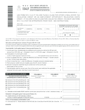 Fillable Online NYC-114.5 - NYC.gov Fax Email Print ...