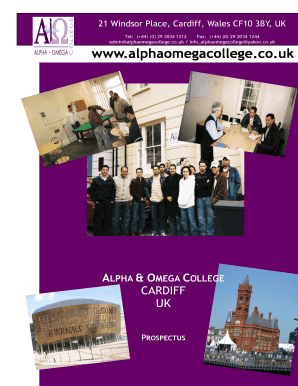 Vocational Courses Brochure - Alpha Omega College - alphaomegacollege co