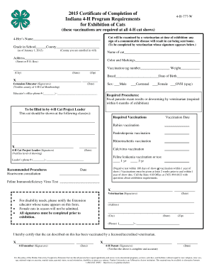 2015 Cat Vaccination Form.pub
