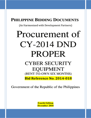 Bid Docs For Cyber Security Equipment