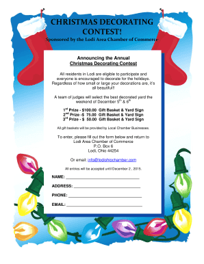 Christmas Decorating 2015 Flyer - Village of Lodi Ohio, Chamber of ...