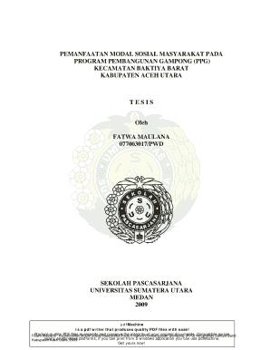 Fillable Online Repository Usu Ac Tesis Fatwa Maulana Pdfmachine From Broadgun Software Http Repository Usu Ac Fax Email Print Pdffiller