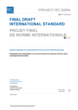Fillable Online Project Iec 62554 Fax Email Print Pdffiller